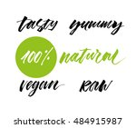 hand drawn concept of healthy... | Shutterstock .eps vector #484915987