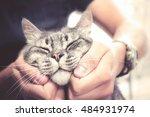 Cat In Human Hands  Pleased...