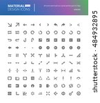 material design solid icons set.... | Shutterstock .eps vector #484932895