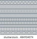 set of white borders isolated... | Shutterstock .eps vector #484934074