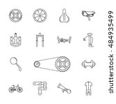 vector black bicycle icons set... | Shutterstock .eps vector #484935499