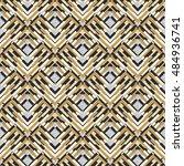 seamless print. retro ornament. ... | Shutterstock .eps vector #484936741