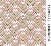 seamless design. retro... | Shutterstock .eps vector #484936915