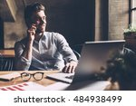 always in touch with colleagues....   Shutterstock . vector #484938499