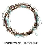 autumn wreath   frame   of... | Shutterstock . vector #484940431
