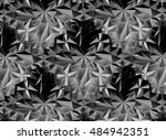 abstract black and white...   Shutterstock . vector #484942351