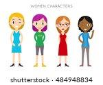 diverse vector people set.... | Shutterstock .eps vector #484948834