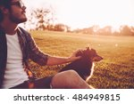 his best friend and companion.... | Shutterstock . vector #484949815
