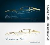 car company dark and white... | Shutterstock .eps vector #484950991
