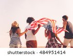 Friends With American Flag....