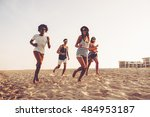 young and carefree. group of... | Shutterstock . vector #484953187