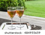 Two Glasses Of Chilled Rose...