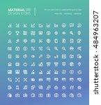 set of material design line... | Shutterstock .eps vector #484963207