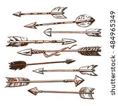set of ethnic indian arrow hand ... | Shutterstock .eps vector #484965349