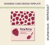 business card concept for food...   Shutterstock .eps vector #484965667
