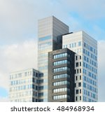 the skyscrapers in a tel aviv ... | Shutterstock . vector #484968934