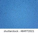 blue running track texture... | Shutterstock . vector #484972021