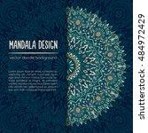 vector mandala decor for your... | Shutterstock .eps vector #484972429