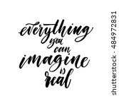imagine everything you can is... | Shutterstock .eps vector #484972831