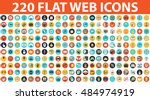 220 flat web icons on following ... | Shutterstock .eps vector #484974919