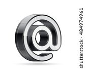 email symbol. at icon. e mail... | Shutterstock .eps vector #484974961