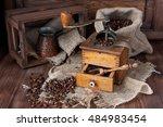 Vintage Coffee Grinder   Turk...