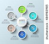 arrow circle infographics... | Shutterstock .eps vector #484983985