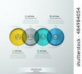 modern circle intersection... | Shutterstock .eps vector #484984054