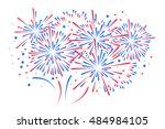 vector holiday firework | Shutterstock .eps vector #484984105
