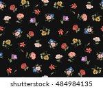 trendy seamless floral pattern... | Shutterstock .eps vector #484984135