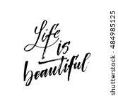 Life Is Beautiful Postcard....