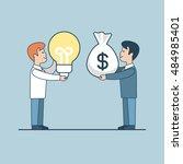 linear flat investor offering... | Shutterstock .eps vector #484985401