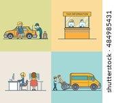 Flat Modern Taxi Information...