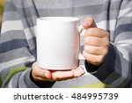 White Mugs For Mock Up In The...