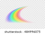 transparent rainbow. vector... | Shutterstock .eps vector #484996075
