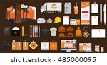 set of corporate identity and... | Shutterstock .eps vector #485000095