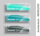 banner design. set of three... | Shutterstock .eps vector #485001505