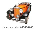 beautiful elegant ancient car ...   Shutterstock . vector #485004445