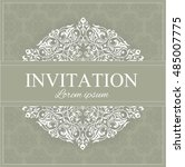 invitation or card with... | Shutterstock .eps vector #485007775