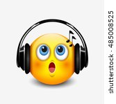cute singing emoticon with... | Shutterstock .eps vector #485008525