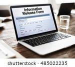 information release form...   Shutterstock . vector #485022235