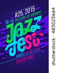 jazz music festival  poster... | Shutterstock .eps vector #485025664