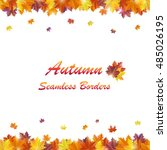 shiny autumn background with... | Shutterstock .eps vector #485026195