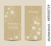 set of vertical banners.... | Shutterstock .eps vector #485030719