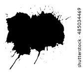 abstract black ink blot... | Shutterstock .eps vector #485034469