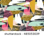 vector seamless pattern with... | Shutterstock .eps vector #485053039