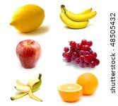 collage with fruits | Shutterstock . vector #48505432