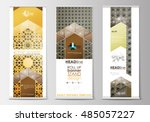 set of roll up banner stands ... | Shutterstock .eps vector #485057227