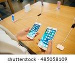 paris  france   september 16 ... | Shutterstock . vector #485058109