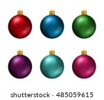 Set Of Colorful Christmas Ball...
